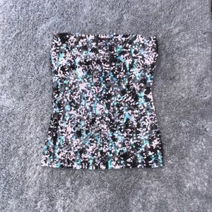 Express strapless sequin top medium